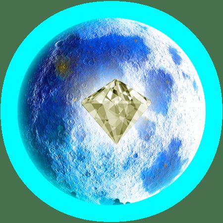 青い月とクリスタル